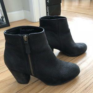BP black leather booties!